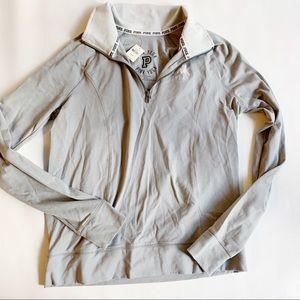 PINK Victoria's Secret Jackets & Coats - PINK VICTORIAS SECRET Gray Pullover Jacket NWT M